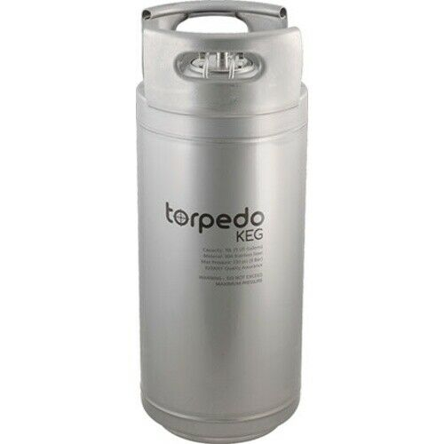 Torpedo Ball Lock Corny Keg 5 Gallon Stackable Stainless Steel Homebrew Beer