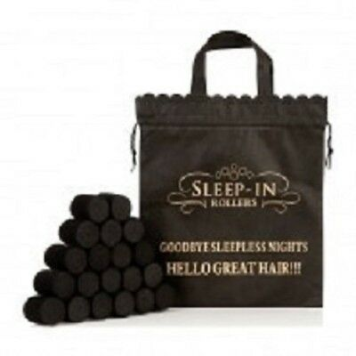 Sleep In Rollers - 20 Black Roller Boxed Gift Set inc Pink Draw String Bag