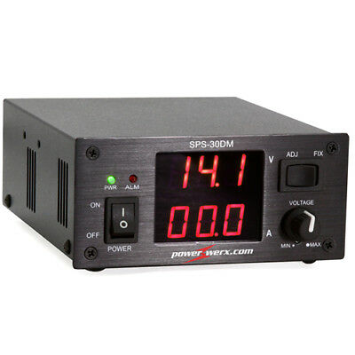 Powerwerx Variable 30 Amp Desktop Dc Power Supply With Digital Meters Sps-30dm