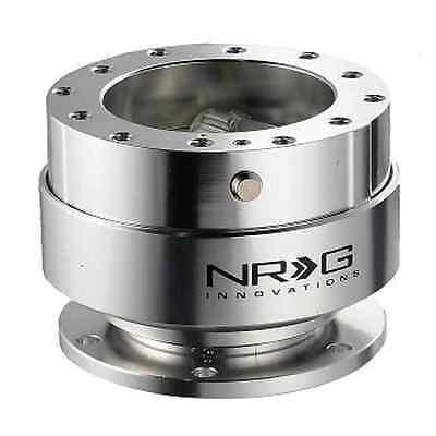 NRG STEERING WHEEL QUICK RELEASE KIT GEN 1.5 (SILVER Body & SILVER Ring)