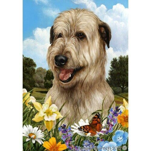 Summer Garden Flag - Wheaten Irish Wolfhound 183301