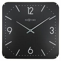 Boyle NeXtime Stylish Wall Indoor Clock Basic Square Dome - Black
