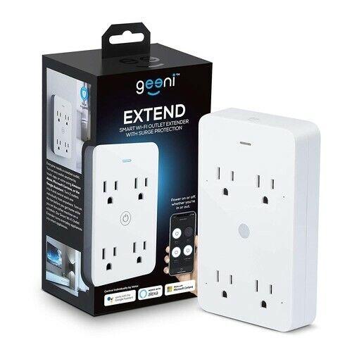Geeni SPOT Smart Wi-Fi Outlet Plug White Safety App Control 125V Circular 2 Pck