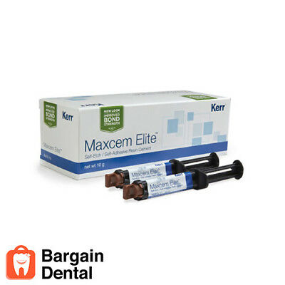 Kerr Maxcem Self-etch Self-adhesive Resin Cement Dental Clear 2 Syringes -fda