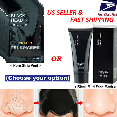 Pilaten   Blackhead Remover Deep Cleansing Black Mud Mask Acne Pore Strip Peel