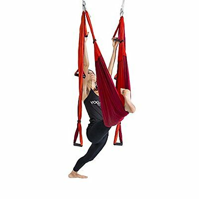 YOGABODY Naturals Yoga Trapeze Yoga Swing Sling Inversion Tool Orange Exercise