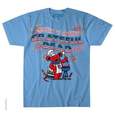 GRATEFUL DEAD-GRILLIN' N' CHILLIN'-SYF-BEARS-TSHIRT S-M-L-XL-XXL-3X-4X-5X-6X - The Grateful Dead Bears