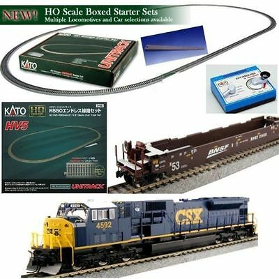 Kato 30-2005 HO Unitrack Starter Train Set EMD SD80MAC CSX w/ 3 Gunderson Cars