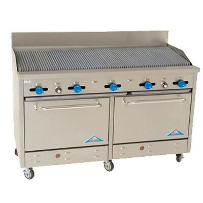 Comstock Castle F3226-5rb 60 Gas Restaurant Range With Charbroiler