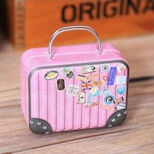 image is loading 10 boite a dragees valise rose mariage theme - Valise Dragees Mariage