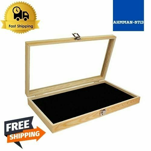 Natural Wood Jewelry Display Case Accessories Storage Box with Metal Clasp