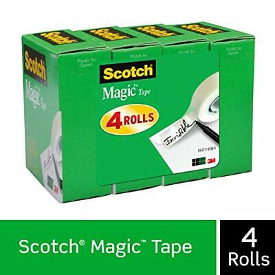 Scotch Tape Refill Magic 34 X 1000 Inches Boxed 4 Rolls Invisible Durable