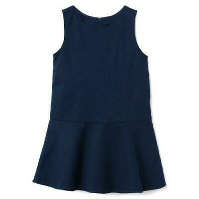 GYMBOREE Girls School Uniform Dress Soft Stretch Jumper Navy Blue -