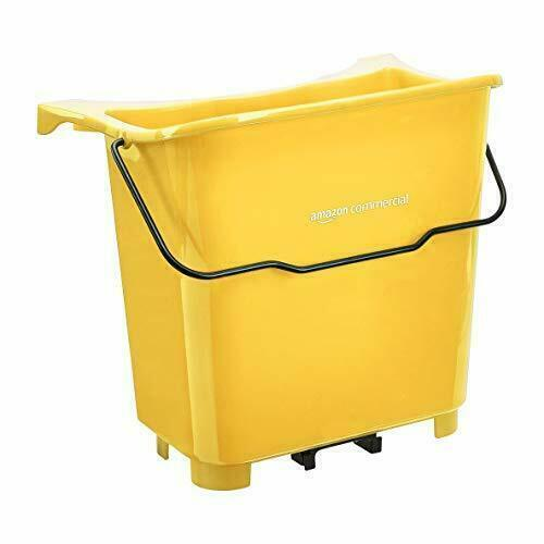 AmazonCommercial Fresh Mop Cleanser Supplemental Buckets Yellow - 6 Pack