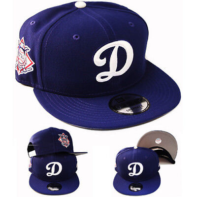 New Era MLB Los Angeles Dodgers D Logo Snapback Hat National League Side Patch