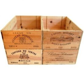 French wooden wine boxes - Various sizes available