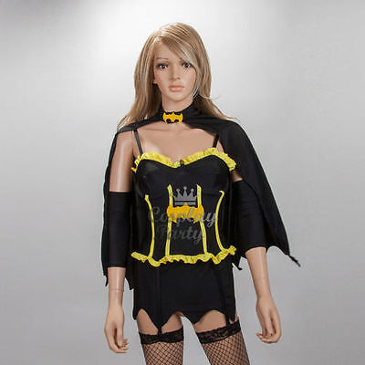 Batgirl Batwoman Complete Sexy Costume w/Stocking Women Cosplay Halloween - Batwoman Costumes