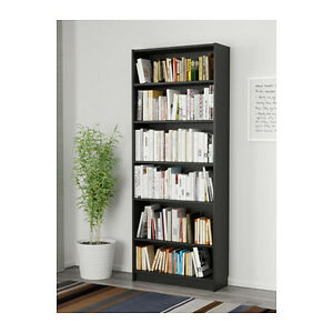 Ikea Billy Bookcases with Height Extension Units -Black Brown