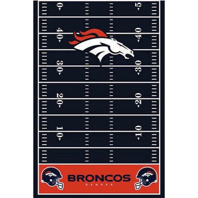 NFL DENVER BRONCOS PLASTIC TABLE COVER ~ Birthday Party Supplies Decoration