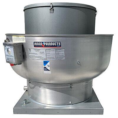Commercial Restaurant Kitchen Exhaust Fan 3200 Cfm 28 Base 1.0 Hp 115 V