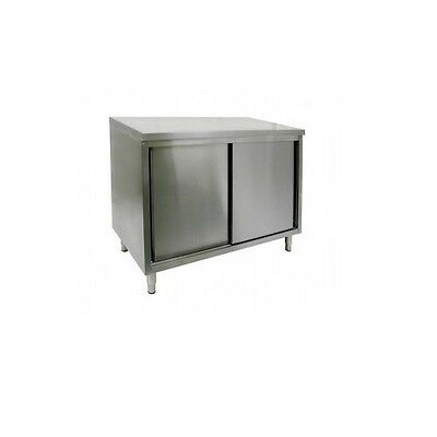 New Commercial 14 X 36 Stainless Steel Storage Dish Cabinet With Sliding Doors