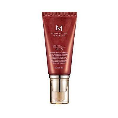 [US Seller+Sample] Missha M Perfect Cover BB Cream No.27 Honey Beige 50ml/1.7 Oz