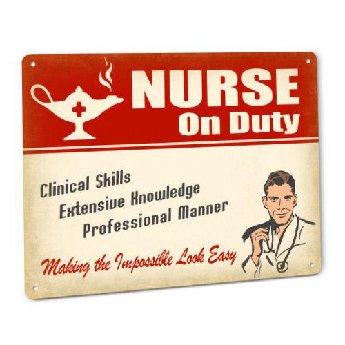 Nurse Sign for Male RN LVN LPN CNA ADN BSN DNP Medical Metal Wall Decor 190