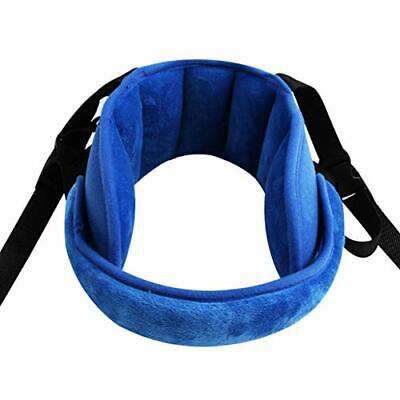 Adjustable Child Car Seat Head Support Band Comfortable Safe Sleep Solution Blue