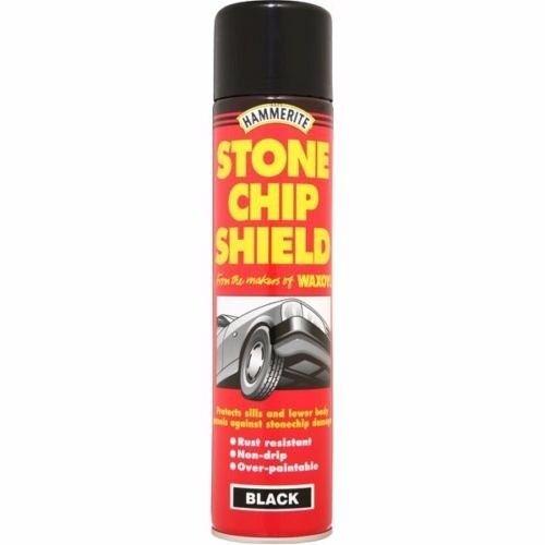 Hammerite Stone Chip Shield Black / Grey / White Aerosol Spray Paint Brand New