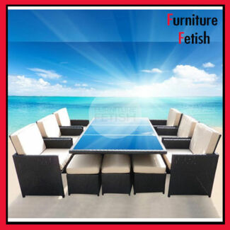 Outdoor Rattan Wicker Dining Setting 13 piece Premium Quality Nerang Gold Coast West Preview