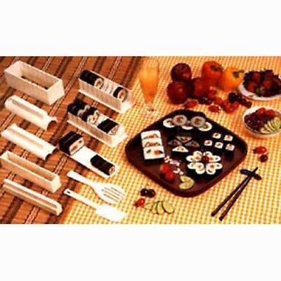 Home Sushi Master Maker Rice Form Former Making Shaper Tool Kit Set with Knife