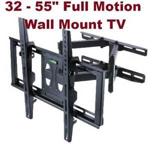 32-55 inch Tilt Swivel Full motion Wall Mount Monitor TV Bracket