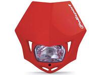 New Polisport MMX Headlight Enduro Road Legal Red MX CRF XR 250/400/450