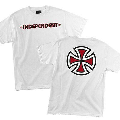 Independent Trucks Bar Iron Cross Logo Skateboard Tee T Shirt White S M L Xl Xxl