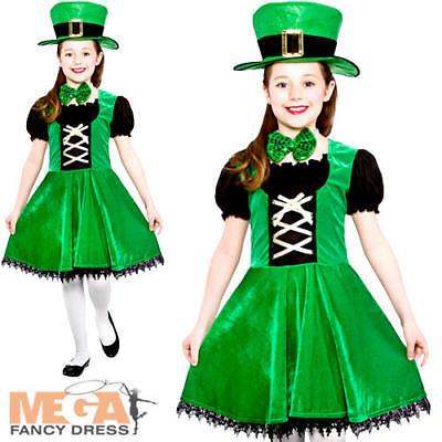 Irish Leprechaun Girls Fancy Dress St Patricks Day Kids Childs Costume - Girl Leprechaun