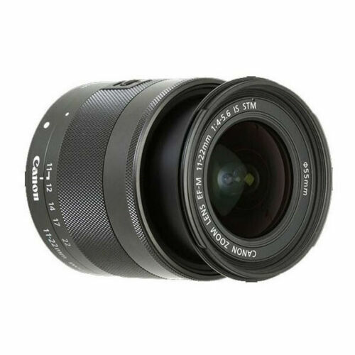 Canon EF-M 11-22mm f/4-5.6 IS STM Ultra-Wide Angle Zoom Lens Black 7568B002