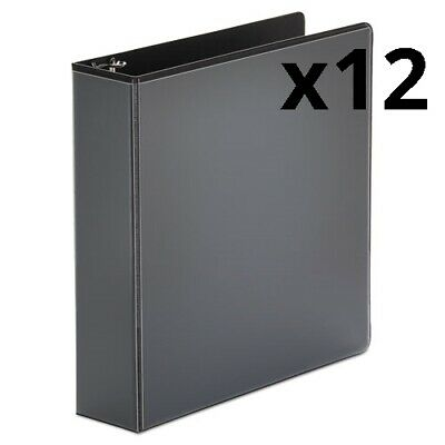 Economy Round Ring View Binder 3 Rings 2 Capacity 11 X 8.5 Black Pack Of
