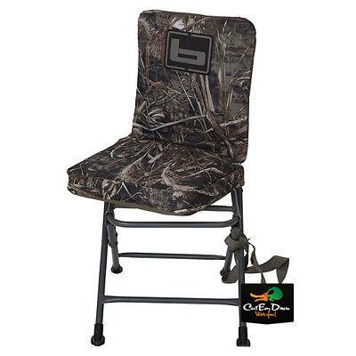 NEW BANDED SWIVEL BLIND CHAIR PADDED SEAT HUNTING STOOL REALTREE MAX-5 CAMO REG
