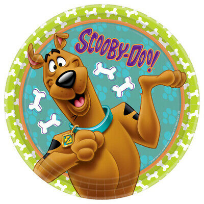 SCOOBY-DOO ZOINKS! LARGE PAPER PLATES (8) ~Birthday Party - Scooby Doo Party Supplies