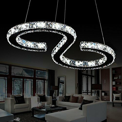 Details About 23w Luxury Modern Crystal Led Ceiling Pendant Light Home Chandeliers Cool White