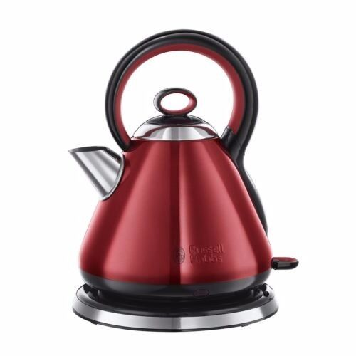 New KETTLE Russell Hobbs Red 1.7L 2400W Electric Fast Rapid Boil Cordless Was: £49.99