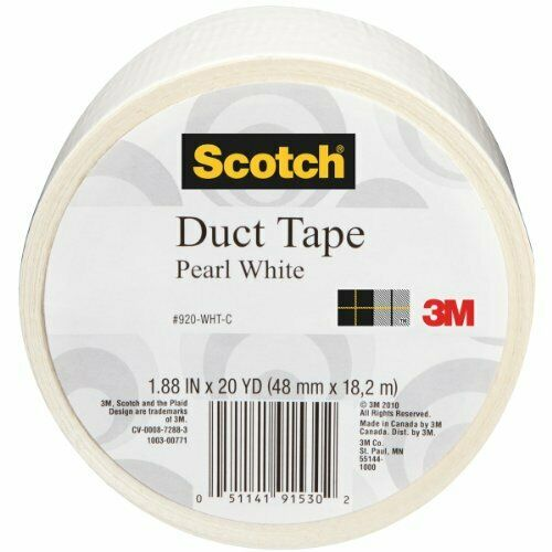 Scotch Duct Tape, Pearl White, 1.88-Inch by 20-Yard