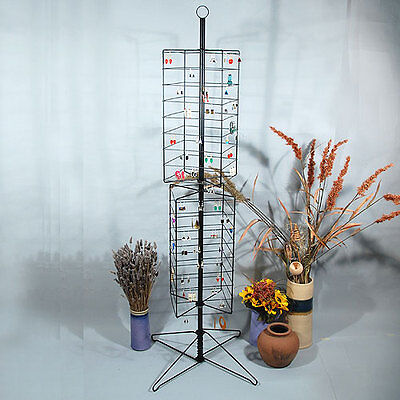 Metal Rotating Earring Rack Wire Jewelry Display Stand 24 X 63 12h