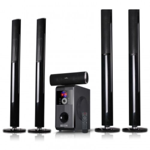 beFree Sound 5.1-Channel Bluetooth Speaker System Black 91592801M