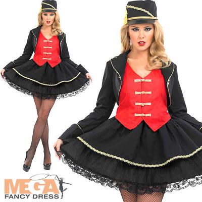 Drum Majorette Ladies Costume + Hat Womens Sports Adults Fancy Dress Outfit 8-30](Drum Majorette Costume)