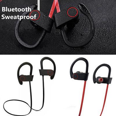 Wireless Bluetooth Stereo Super BASS Earphone Headset Ear-hook Sport For iPhone