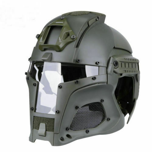 Tactical Retro Medieval Iron Warrior Motorcycle Airsoft Helmet Mask Outdoor GN