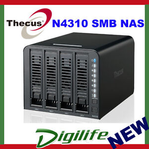 THECUS N4310 SOHO NAS, 4 BAY HOT-SWAP, MAX 16TB, RAID, USB 3.0