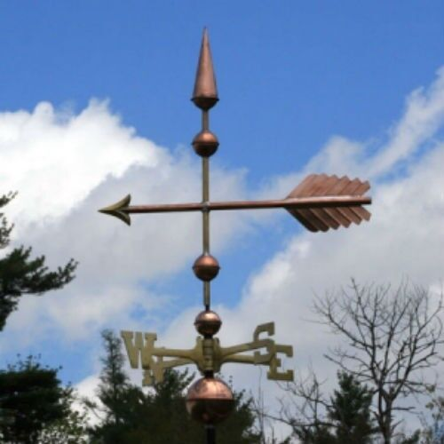 "COPPER   "" FANCY ARROW "" WEATHERVANE  MADE IN USA #167"