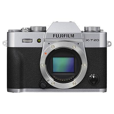 Fujifilm X-T20 Mirrorless 24.3MP 4K Fuji X T20 Digital Camera Body Silver